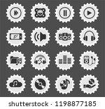 digital music web icons... | Shutterstock .eps vector #1198877185