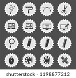 design web icons stylized... | Shutterstock .eps vector #1198877212