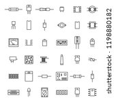set of various electronic and... | Shutterstock . vector #1198880182