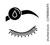 makeup removal glyph icon.... | Shutterstock .eps vector #1198880695