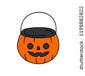 cute hand drawn halloween... | Shutterstock .eps vector #1198882822