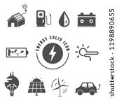 energy saving solid icon set... | Shutterstock .eps vector #1198890655