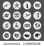 america web icons stylized... | Shutterstock .eps vector #1198893238