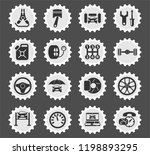 car service web icons stylized... | Shutterstock .eps vector #1198893295