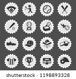baseball web icons stylized... | Shutterstock .eps vector #1198893328