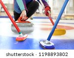 Curling  Team Playing On The...