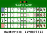 poker set with isolated cards... | Shutterstock .eps vector #1198895518