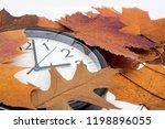 daylight saving time. wall... | Shutterstock . vector #1198896055