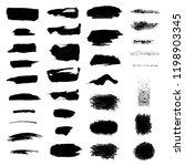 set. black brush strokes on a... | Shutterstock .eps vector #1198903345
