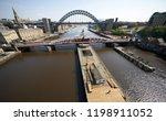 newcastle upon tyne  england ... | Shutterstock . vector #1198911052