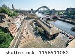 newcastle upon tyne  england ... | Shutterstock . vector #1198911082