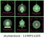 magic christmas vintage cards... | Shutterstock .eps vector #1198911205