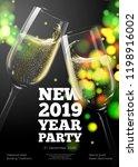 vector new year poster ... | Shutterstock .eps vector #1198916002