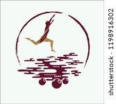 jump vector illustration. jump... | Shutterstock .eps vector #1198916302