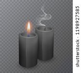 realistic black candles ... | Shutterstock .eps vector #1198927585
