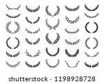 collection of different black... | Shutterstock .eps vector #1198928728