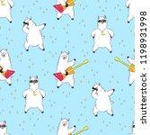 cute lama  doodle vector... | Shutterstock .eps vector #1198931998