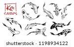 set of koi carps  japanese fish.... | Shutterstock .eps vector #1198934122