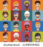 set of people icons with faces | Shutterstock .eps vector #1198939402