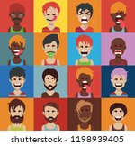 set of people icons with faces   Shutterstock .eps vector #1198939405
