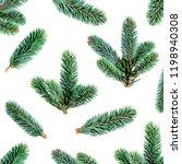 fir branches pattern. pine... | Shutterstock . vector #1198940308