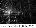 abandoned metro tunnel with...   Shutterstock . vector #1198941958