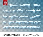 snow  ice cap with shadow.... | Shutterstock .eps vector #1198942642