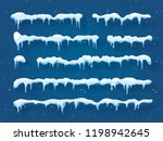 snow  ice cap with shadow.... | Shutterstock .eps vector #1198942645