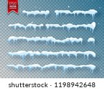 snow  ice cap with shadow.... | Shutterstock .eps vector #1198942648