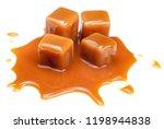 sweet caramel candies with...   Shutterstock . vector #1198944838