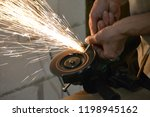 carpentry workshop. hands... | Shutterstock . vector #1198945162
