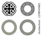 celtic ornaments. isolated... | Shutterstock .eps vector #1198945882
