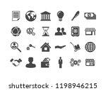 vector business icon set   Shutterstock .eps vector #1198946215