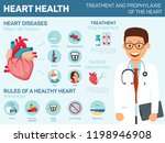 heart health. treatment and... | Shutterstock .eps vector #1198946908