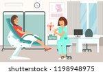 gynecologist consultation.... | Shutterstock .eps vector #1198948975