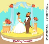 wedding ceremony concept.... | Shutterstock .eps vector #1198949512