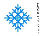 snowflake winter vector. blue... | Shutterstock .eps vector #1198950172