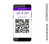 qr code on the screen of a... | Shutterstock .eps vector #1198953442