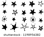 doodle hand drawn stars ...   Shutterstock .eps vector #1198956382