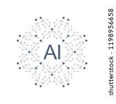 artificial intelligence logo... | Shutterstock .eps vector #1198956658