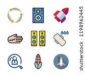 training icon set. vector set... | Shutterstock .eps vector #1198962445
