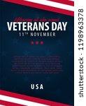 veterans day. honoring all who... | Shutterstock .eps vector #1198963378