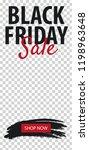 black friday sale stories for... | Shutterstock .eps vector #1198963648