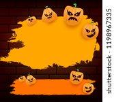 halloween web orange grunge... | Shutterstock .eps vector #1198967335
