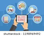 real estate service.... | Shutterstock .eps vector #1198969492