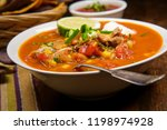 Hearty And Spicy Tortilla Soup...