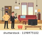 demonstration apartments.... | Shutterstock .eps vector #1198975102