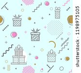 seamless geometric pattern with ... | Shutterstock .eps vector #1198975105