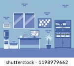 business company office interior | Shutterstock .eps vector #1198979662