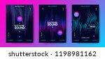 music poster for electronic... | Shutterstock .eps vector #1198981162